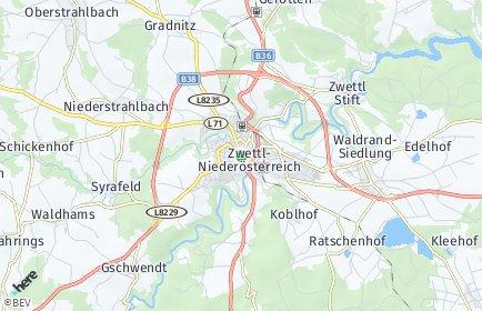 Stadtplan Zwettl-Niederösterreich OT Rieggers