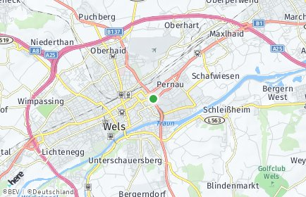 Stadtplan Wels OT Dickerldorf