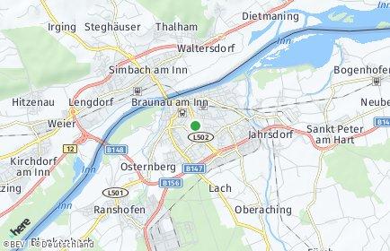Stadtplan Braunau am Inn