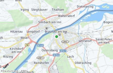 Stadtplan Braunau am Inn OT Oberrothenbuch