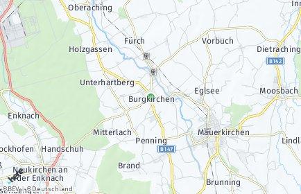 Stadtplan Burgkirchen OT Grillham