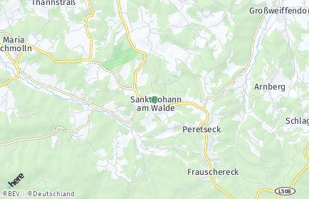 Stadtplan Sankt Johann am Walde