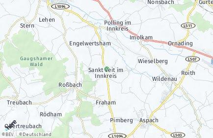Stadtplan Sankt Veit im Innkreis
