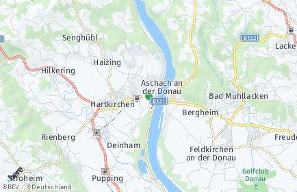 Stadtplan Aschach an der Donau