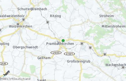 Stadtplan Prambachkirchen OT Oberdoppl