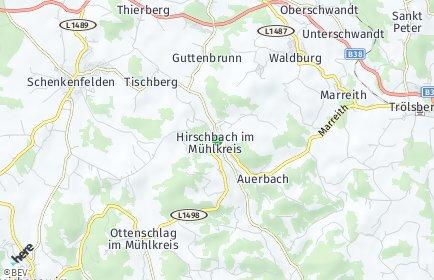 Stadtplan Hirschbach im Mühlkreis
