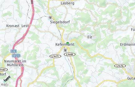 Stadtplan Kefermarkt