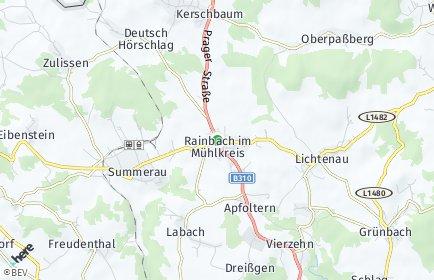 Stadtplan Rainbach im Mühlkreis