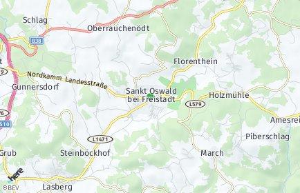Stadtplan Sankt Oswald bei Freistadt