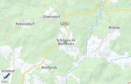 Stadtplan Schönau im Mühlkreis