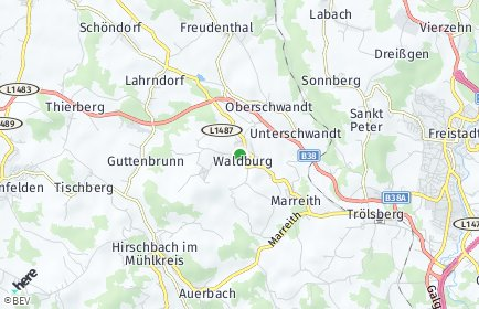 Stadtplan Waldburg