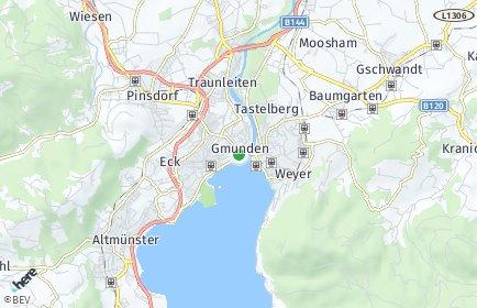 Stadtplan Gmunden