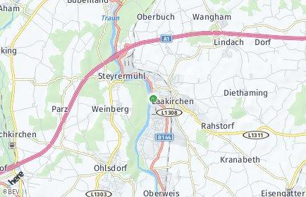Stadtplan Laakirchen OT Diethaming