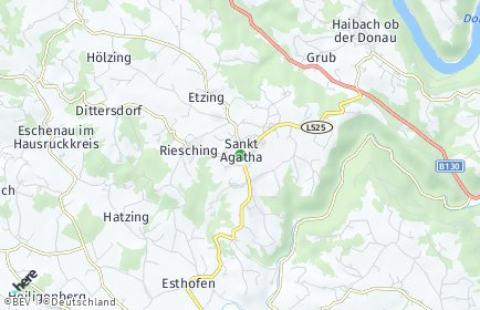 Stadtplan Sankt Agatha