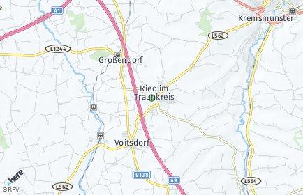 Stadtplan Ried im Traunkreis OT Schachadorf