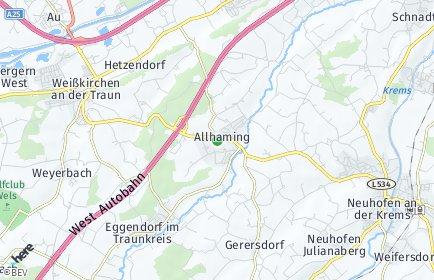 Stadtplan Allhaming