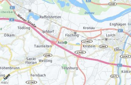 Stadtplan Asten