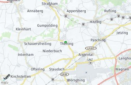 Stadtplan Kirchberg-Thening