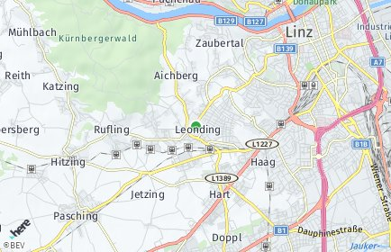 Stadtplan Leonding OT Alharting