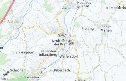 Stadtplan Neuhofen an der Krems