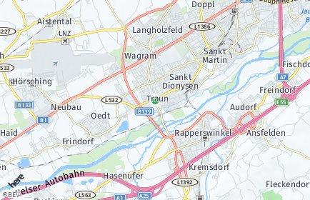 Stadtplan Traun OT Oedt