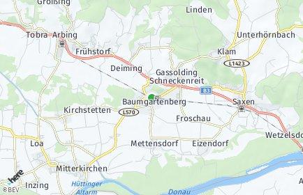 Stadtplan Baumgartenberg