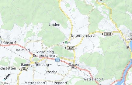 Stadtplan Klam