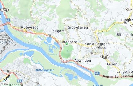 Stadtplan Luftenberg an der Donau