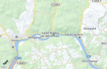 Stadtplan Sankt Nikola an der Donau