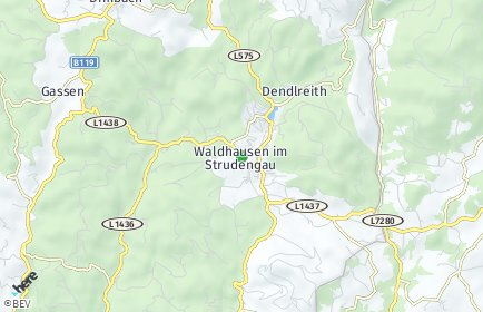 Stadtplan Waldhausen im Strudengau