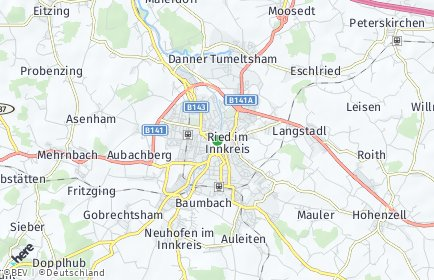 Stadtplan Ried im Innkreis