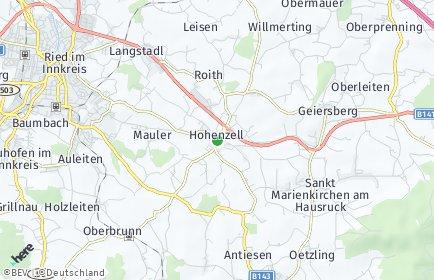 Stadtplan Hohenzell
