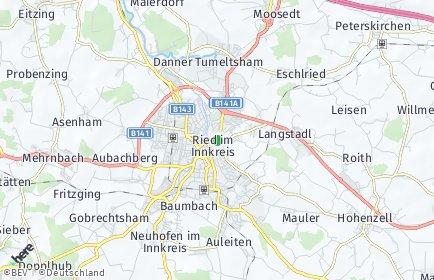 Stadtplan Ried im Innkreis OT Kreuzbergsiedlung