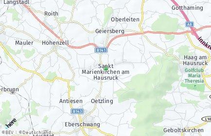 Stadtplan Sankt Marienkirchen am Hausruck