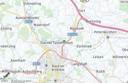 Stadtplan Tumeltsham OT Hannesgrub