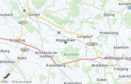 Stadtplan Wippenham OT Bruck