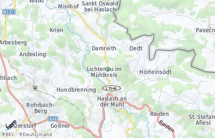 Stadtplan Lichtenau im Mühlkreis