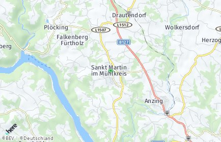 Stadtplan Sankt Martin im Mühlkreis