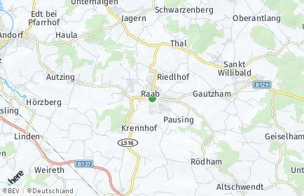 Stadtplan Raab