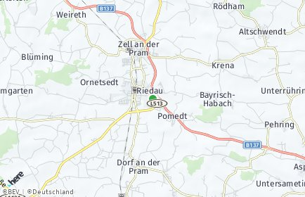 Stadtplan Riedau