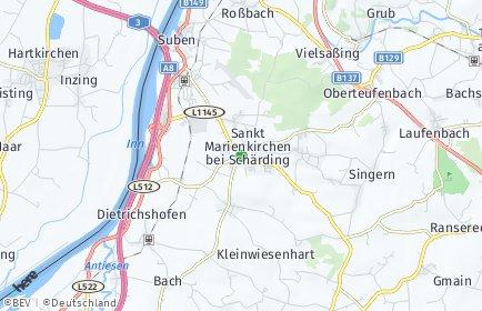 Stadtplan Sankt Marienkirchen bei Schärding