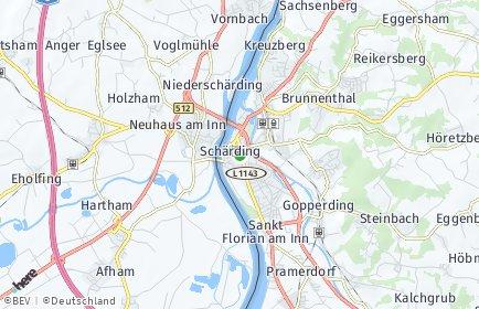 Stadtplan Schärding