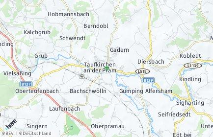 Stadtplan Taufkirchen an der Pram