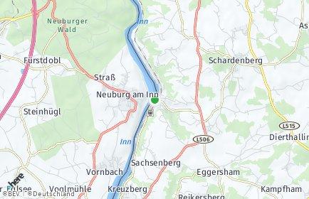 Stadtplan Wernstein am Inn