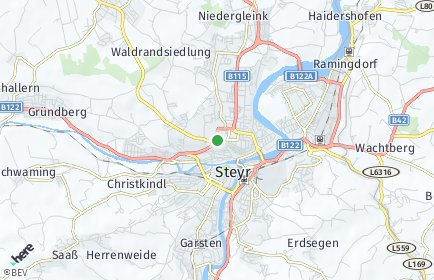 Stadtplan Steyr-Land