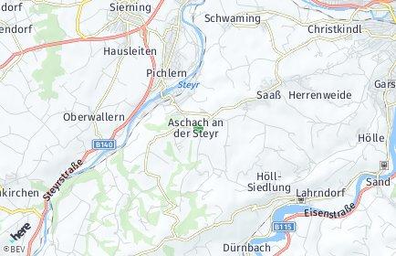 Stadtplan Aschach an der Steyr