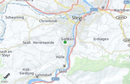 Stadtplan Garsten