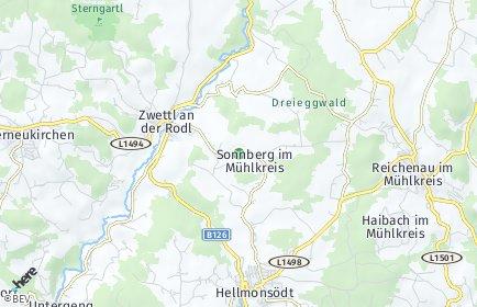 Stadtplan Sonnberg im Mühlkreis