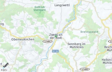 Stadtplan Zwettl an der Rodl