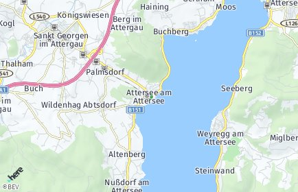 Stadtplan Attersee am Attersee